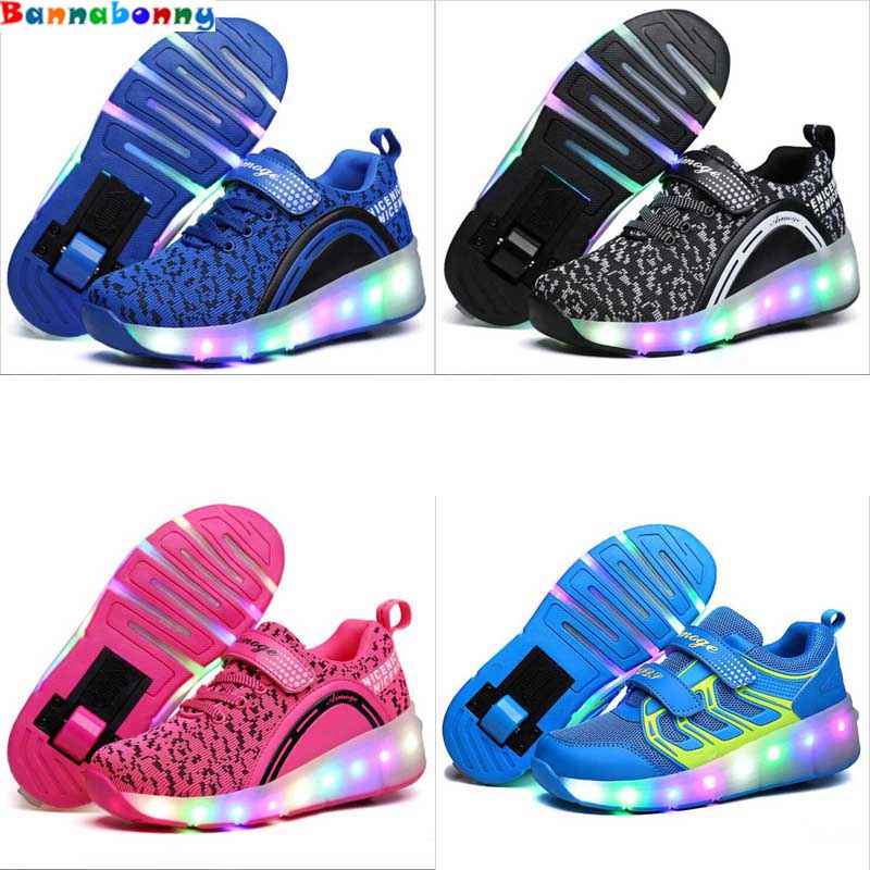 Children Shoes With Light With wheels Skate Boys And Girls Casual LED Shoes For Kids 2018 LED Light Up 6 Colors Kids Shoes 28-38 children shoes with light with wheels skate boys and girls casual led shoes for kids 2018 led light up 4 colors kids shoes 28 38 href page 1 page 2