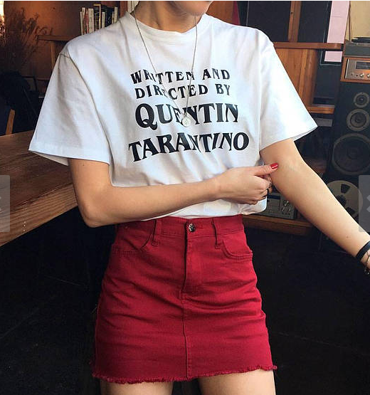 Hillbilly QUENTIN Women tshirt Casual Top Tee Tumblr Design Cotton Harajuku Off White Hippie Punk American T shirt Tumblr