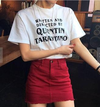 Hillbilly QUENTIN Women tshirt Casual Top Tee Tumblr Design Cotton Harajuku Off White Hippie Punk American T shirt Tumblr