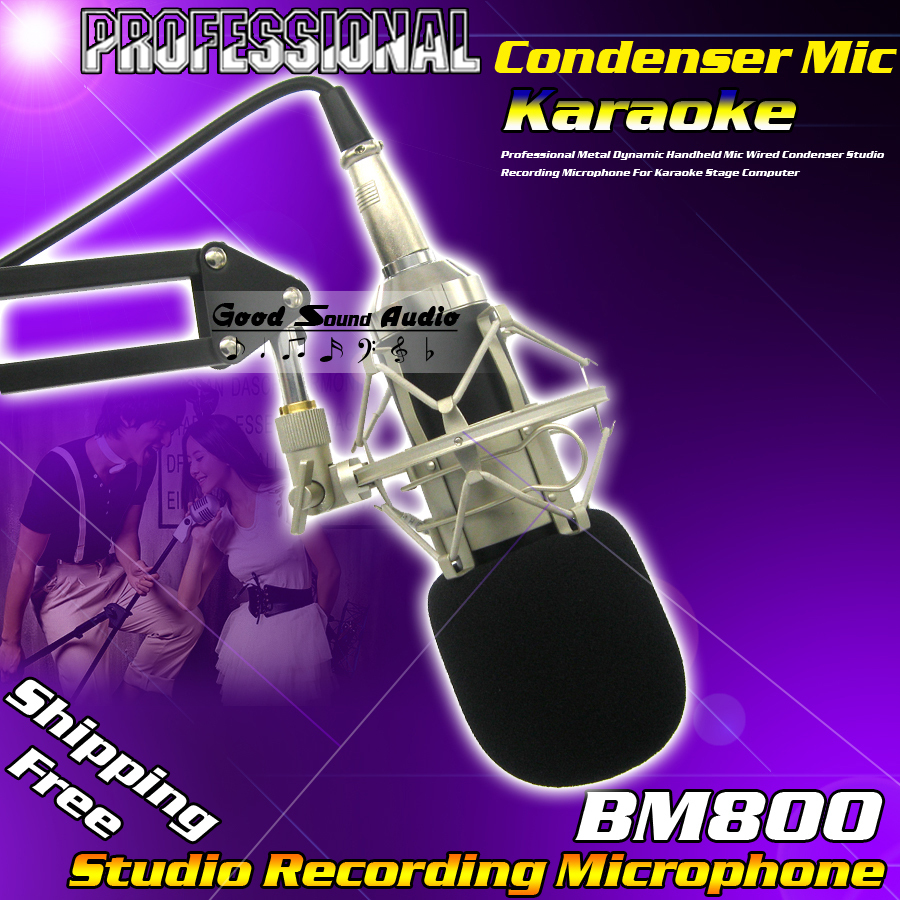 Professional Wired Dynamic Studio Recording Mic BM800 Condenser Microphone For Karaoke Home Computer KTV Stage Singing Broadcast  k068 wireless microphone microfone with mic speaker condenser mini karaoke player ktv singing record for smart phones computer