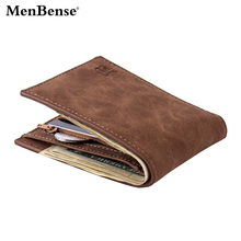 Wallet Men Leather Man Wallets Dollar Slim Purse Card Holder Fashion No Zipper Money Bag Quality Mens Purses Coin Carteira B319