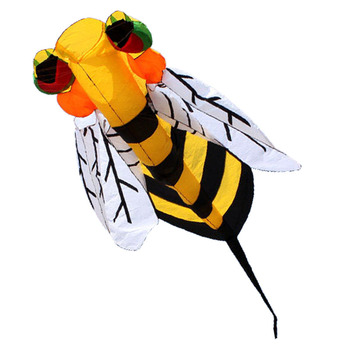 Free Shipping New Arrive Software 4m Animal Bee Kite Flying Outdoor Fun Sports