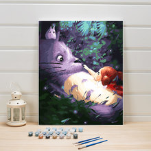 Paint By Numbers Cartoon Anime Canvas Painting Digital Hand Drawn Coloring Pictures For Kids Room Decoration Home Walls Arts Set(China)