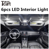 6pcs X Free Shipping Error Free LED Interior Light Kit Package For Ford Mondeo Mk3 Mk4