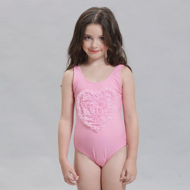 9fa05823c0844 2017 Girls One Piece Swimwear Heart Shape Lace Bathing Suit Kids Beach  Summer Wear Children Swimsuit Sleeveless Bikini New Style-in Children s One- Piece ...