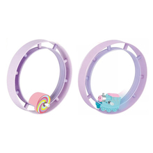 Children Gift Cars Track Rolling Tumbling Toy Cartoon Winding Vehicles Circle Clockwork in the Watch Chain Toys