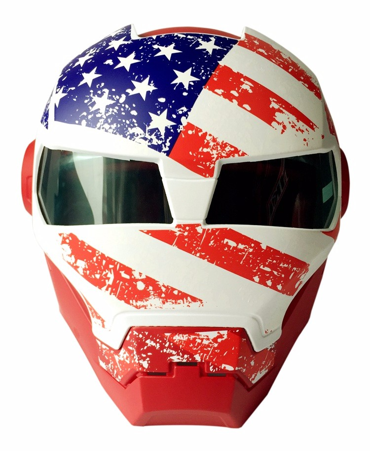 USA Captain Style Masei 610 ironman motorcycle helmet moto helmet Open Face motor bike helmet недорого