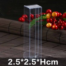 20pcs/lot  Large plastic cosmetic packaging box, long clear pvc box pa