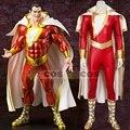 Disfraces de Halloween para hombres adultos Capitán Marvel Shazam cosplay traje de Superhéroe cosplay por encargo