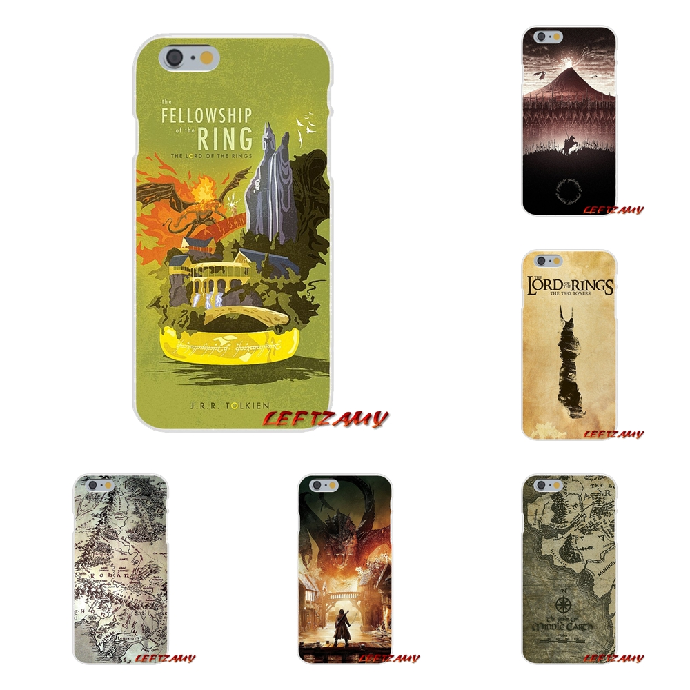 Hobbit Lord Of The Ring LOTR pretty Art For iPhone X 4 4S 5 5S 5C SE 6 6S 7 8 Plus Accessories Phone Cases Covers