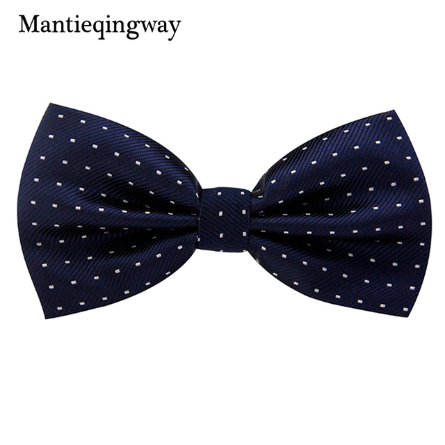 18fde1cbc2 Mantieqingway Men Formal Business Cravat Bow tie Clothing Accessories  Fashion Simple Small Dots Men s Suit Bow Tie For Wedding