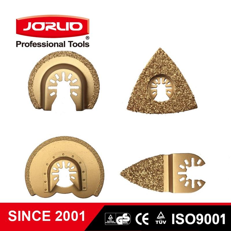Jorlio 4pcs/set HCS Multi Oscillating Saw Blade Carbide Grinding Accessories For Renovator Power Tool