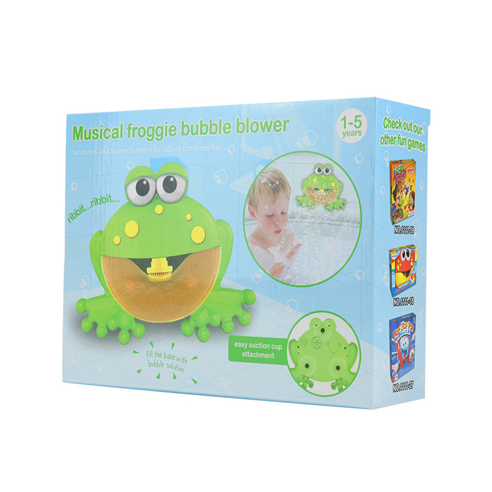 Bubble Machine Big Frogs Automatic Bubble Maker Blower Music Bath Toy For Baby Jan9 Toys & Hobbies Bath Toy