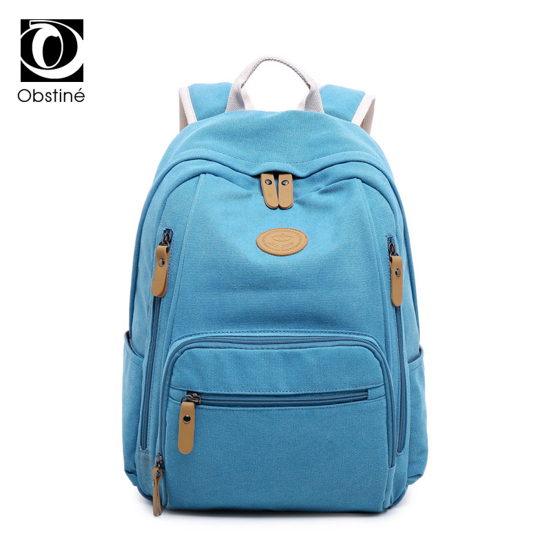 Fashion Large Capacity Canvas Schoolbag for Teenage Girl 14 Inch Laptop Backpack Women Travel Back Pack Female Big School Bags