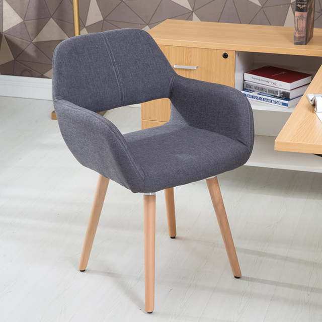 Nordic Solid Wood Dining Chair Creative Desk Stool Backrest Modern Simple Casual