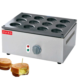 12-Holes electric red bean grill FY-2230A desktop electric wheel bread cake machine red bean bread grill machine 220V 2800W