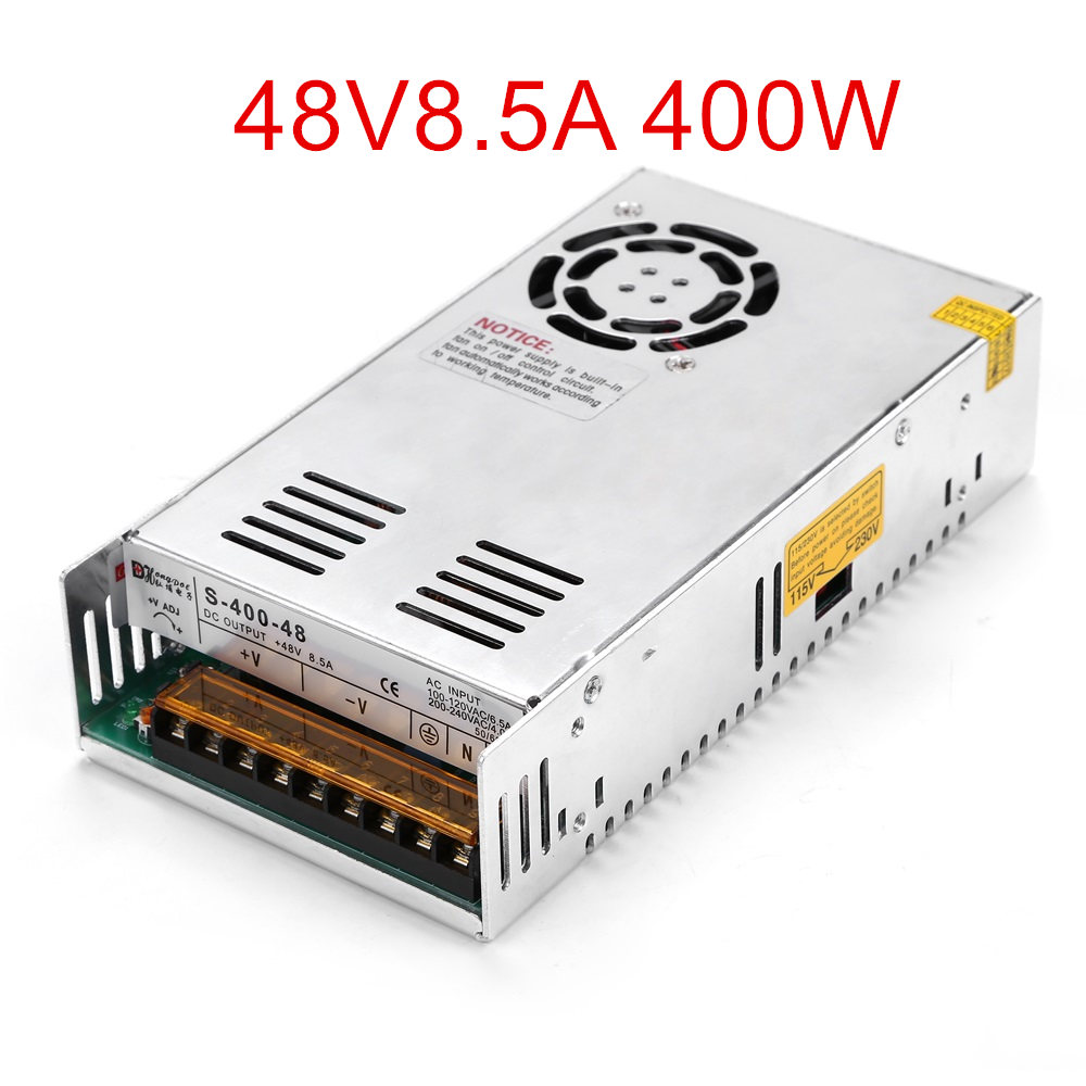 New 48V 8.5ARegulated Switching Power Supply 400W 48V 8.5A For Stepper Motor DC48V spot supply new 57d 6 line stepper motor