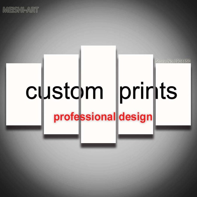 aliexpress com buy 5 panels custom prints canvas painting wall