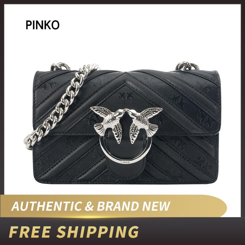 PINKO Mini Love Stripes Shoulder Bag Leather 1P21AA Y5F3