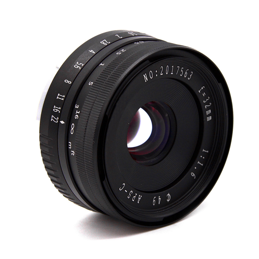 New 32mm F1.6 Aperture Manual Prime Fixed Lens APS-C for Sony E-Mount Digital Mirrorless Cameras NEX 3 NEX 6 7 A6500 sony a6500