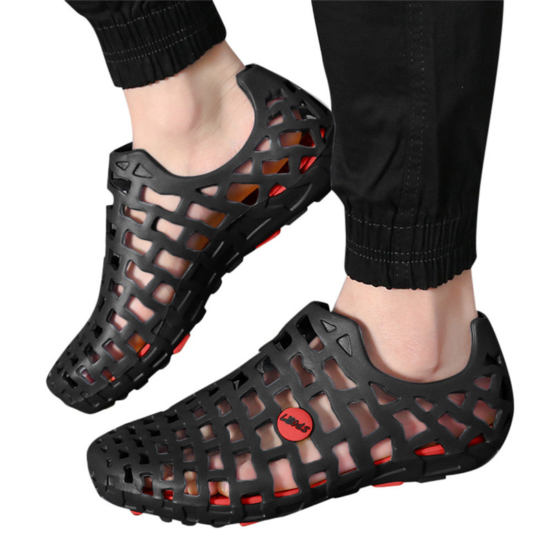 Summer Woman Fashion Flats Hollow Out Hole Beach Breathable Sandals light Casual Beach Soft EVA Injection Comfortable Shoes #40 hollow out sandals for men natural leather european fashion style male breathable hole sandals casual cut out mans cool shoes