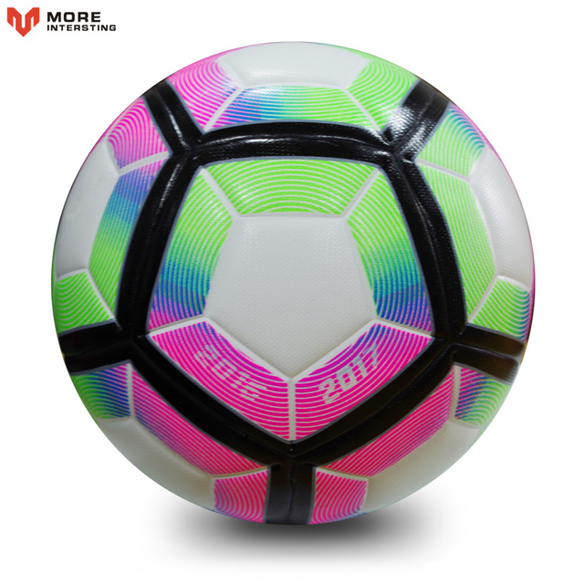 High Quality 2017 Official Size 5 Football Ball PU Granule Slip-resistant Seamless Match Training Soccer Ball Football Equipment