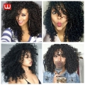 New Star Hair Jerry Curl Synthetic Wig Afro Kinky Curly Synthetic Wigs For Black Women Overwatch Cosplay Kinky Curly Wigs