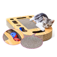 Cat Toys Bell Balls Cat Paw Interactive Grinder Pad Toys Cardboard Scratching Post For Cat scratch board C10