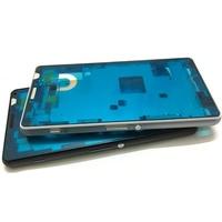 Originale Nuovo Caso Per Sony Xperia Z3 caso Compatto Mini M55W LCD Mid Consiglio Medio Cornice Copertura Dell'alloggiamento del Piatto Con Spina + pulsanti