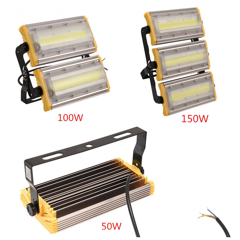 1Pcs Module Flood Light 150W 100W 50W COB LED Floodlight IP65 110V/220V LED Spotlight Refletor Outdoor Lighting Garden Lamp 1pcs lot sh b17 50w 220v to 110v 110v to 220v
