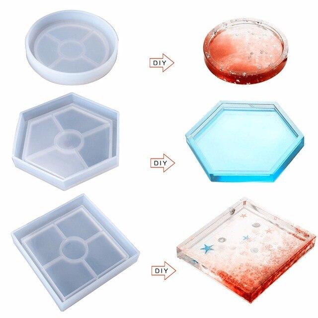 Круглая/квадратная/шестиугольная силиконовая форма для леденцов