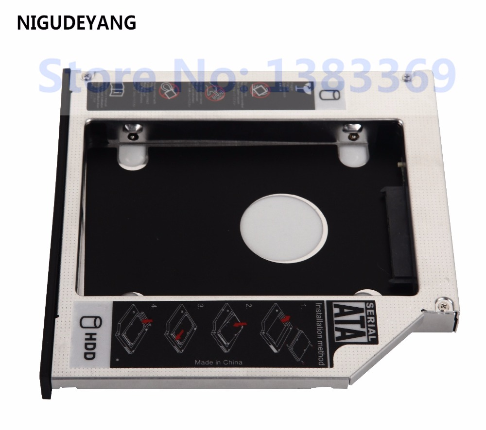 """2nd 2.5/"""" HDD SSD Hard Drive Caddy Adapter for HP ProBook 4440s 4441s 4445s 4446s"""