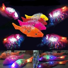 Electric Toy LED Music Clownfish Robe Fish Aquarium Fun Funny Gadgets Novelty Toys Children Birthday Gift YH1503