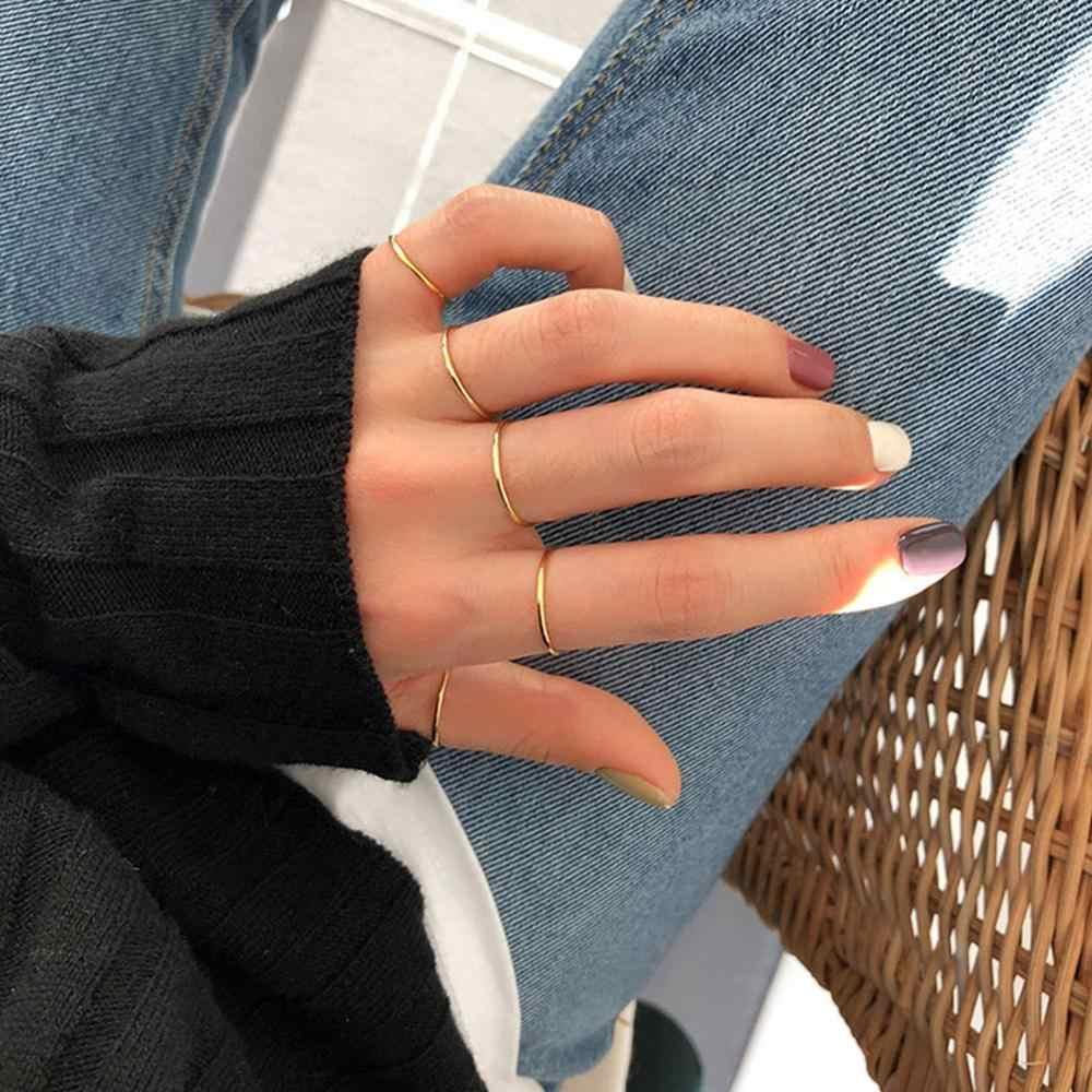 LicLiz ใหม่คลาสสิก 925 เงินสเตอร์ลิงแหวนผู้หญิง 18K Rose Gold เครื่องประดับขัดแหวน Anillos Plata 925 LR0720