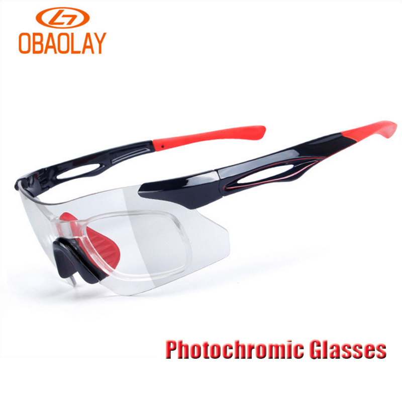 Obaolay Photochromic Protect Cycling Goggles Universal Polarized Sport Sunglasses Mountain Road Bicycle Eyewear Cycling Glasses obaolay outdoor cycling sunglasses polarized bike glasses 5 lenses mountain bicycle uv400 goggles mtb sports eyewear for unisex