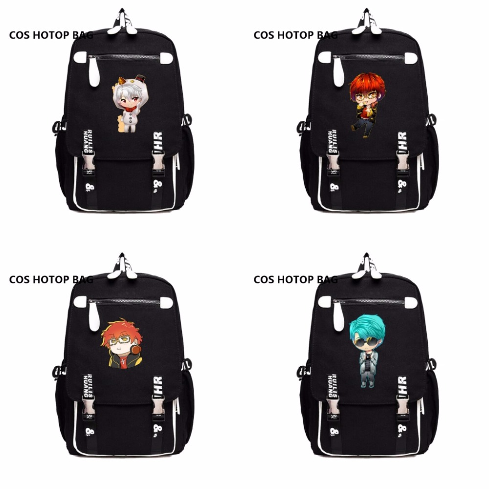 anime Mystic Messenger Backpack School Bags For Boy Girls Cartoon MangaStudent Bookbag women men shoulder Packsack