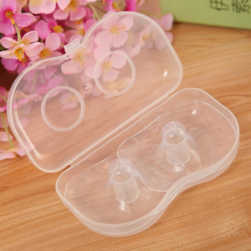 2 Pcs Box Nipple Protector Diameter 5.5cm Shield Breast Feeding Anti Pain Nursing For Baby Support  Fashionable
