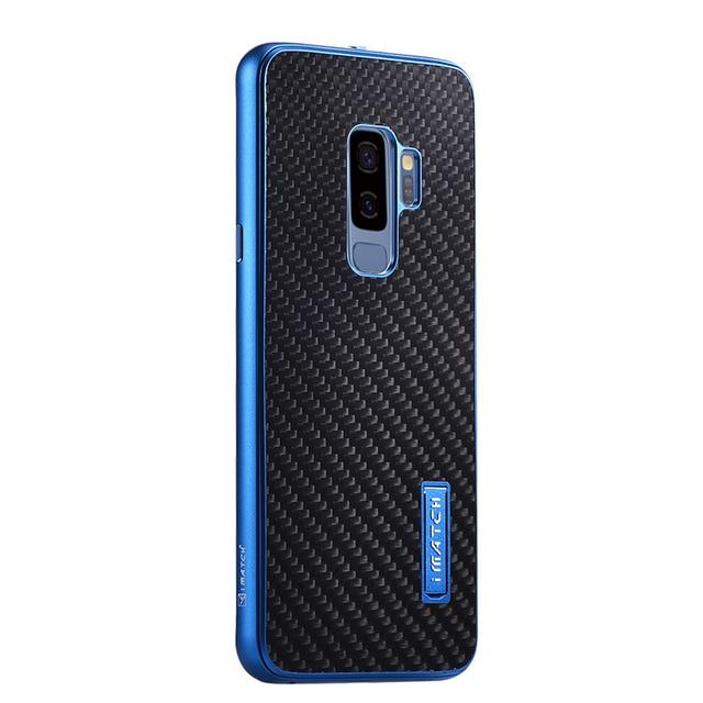 Samsung Galaxy S9 /S8 artı durumda lüks Metal alüminyum tampon kapak karbon Fiber koruma kılıfları Samsung Galaxy s9 S8 kılıfı
