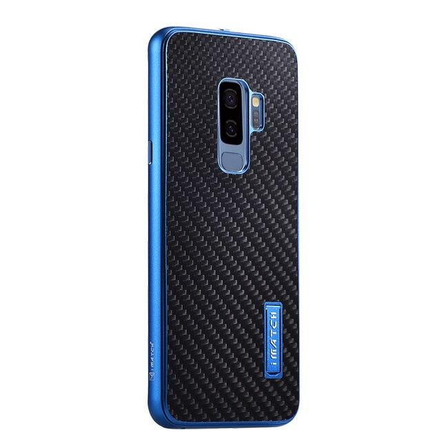 Voor Samsung Galaxy S9 /S8 Plus Case Luxe Metal Aluminium Bumper Cover Carbon Fiber Beschermen Gevallen Voor Samsung Galaxy s9 S8 Case