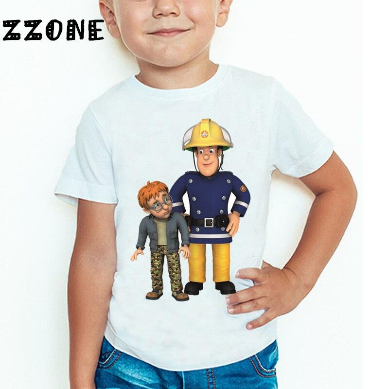 Παιδιά Cartoon Fireman Sam τυπωμένο αστείο T - Παιδικά ενδύματα - Φωτογραφία 4