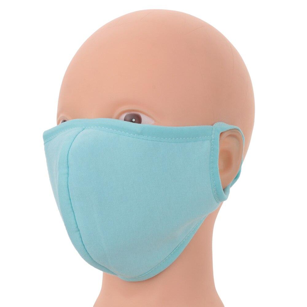 1 Stück Mode Baumwolle 4 Farben Gesundheit Radfahren Anti-staub Mund Gesicht Unisex Mund Gesicht Masken Warme Winter Zubehör Atmungsaktiv GroßE Sorten