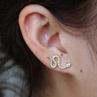2018 Boucle D'oreille Boucle D'oreille Bijoux balayage boucles d'oreilles pour femmes 925 Bijoux en argent sterling boucles d'oreilles Brincos fille Boucle D'oreille oorbel