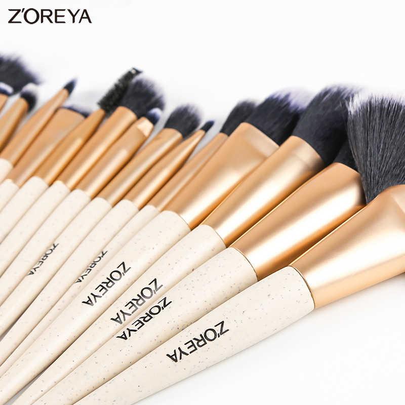 ZOREYA кисти для макияжа 16 шт. набор кистей для макияжа Пудра основа веер тени для век кисти 2019 Новинка