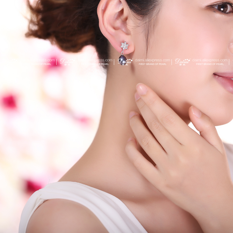 DAIMI Hot Fashion Star Earrings Girls Pearl Earing Bijoux Splinter Stud Earrings For Women Wedding Jewelry Wholesale 4 Colors