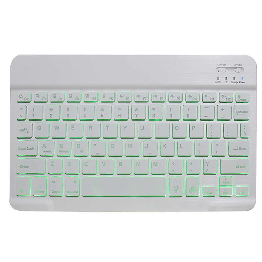 Backlit Keyboard Case untuk Samsung Galaxy Tab S5e 10.5 Case T720 T725 SM-T720 Cover Dapat Dilepas Bluetooth Keyboard Kulit Funda