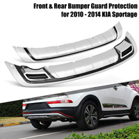 Car Front and Rear Bumper Guard Board Protection for KIA Sportage 2010 2014 Car Styling Exterior Accessories