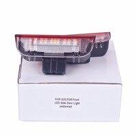 HengChiLun 2X12 V 6000 K LED Número Da Placa Da Lâmpada Do Carro LEVOU Placa De Licença luz Para Volkswagen Golf 5 6 7 Jetta MK5 Passat B6 B7 CC