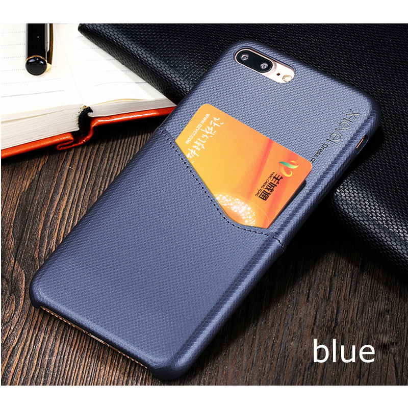 X-Level Newest case For iphone 8 8 plus Luxury PU leather with card slot back case cover for iphone 7 7 plus case bags