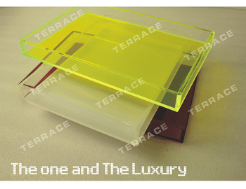 Free Shipping Green Acrylic Storage Tray,lucite perspex food fruit serving trays