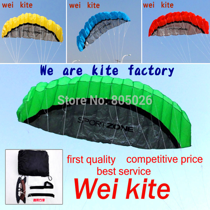 free shipping 2 5m dual Line Stunt power Kite soft kite Parafoil kite surf flying outdoor